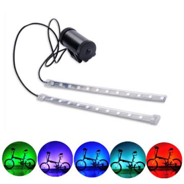 Leadbike Bike Front/Tail Light Fork Light 8 Models 24 Colorful Leds MTB Road Bicycle Safety Warning Rear Lamp For Night Riding