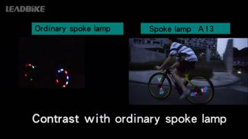 A13 Cool bike wheel light