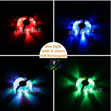 Leadbike Bicycle Cycling Hubs Light Bike Front Tail Light LED Spoke Wheel Warning Light Waterproof Night Riding Accessories
